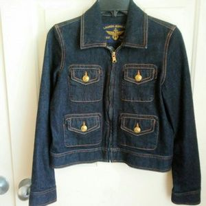 Lauren Ralph Lauren Womens Jean Jacket Coat